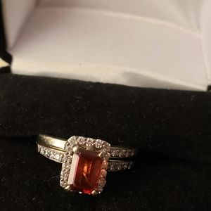 Wedding set garnet with 💎 ♦️